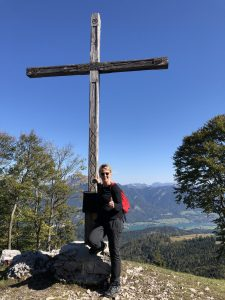 Kathi am Gipfel